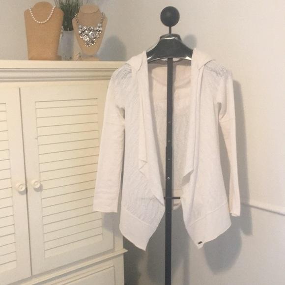 Prana Jackets & Blazers - Women's M Prana light sweater jacket cream w/hood